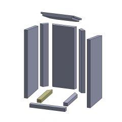 Bodenstein links/rechts 275x37x30mm (Vermiculite) ▷ für Thermia** Neuwerk