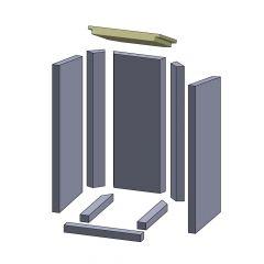 Heizgasumlenkplatte 300x270x30mm (Vermiculite) passend für Thermia**