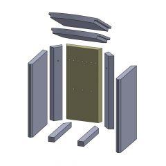 Rückwandstein 448x220x30mm (Vermiculite) passend für Thermia**