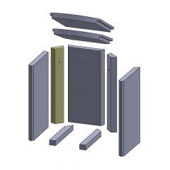 Wandstein hinten links/rechts 448x78x30mm (Vermiculite) ▷ für Thermia** Athena