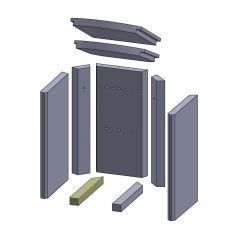 Bodenstein links/rechts 280x37x30mm (Vermiculite) passend für Thermia**