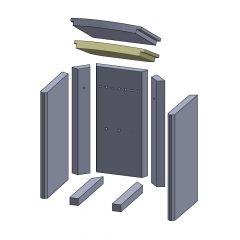 Heizgasumlenkplatte unten 300x275x30mm (Vermiculite) passend für Thermia**
