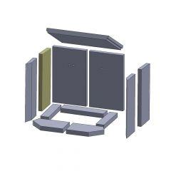 Wandstein hinten links/rechts 396x154x25mm (Vermiculite) ▷ für Thorma** Aurich