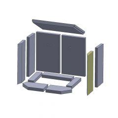 Wandstein vorne rechts 401x149x25mm (Vermiculite) ▷ für Thorma** Aurich