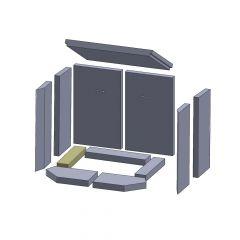 Bodenstein links/rechts 249x56x30mm (Vermiculite) passend für Thorma**