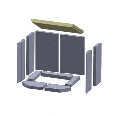 Heizgasumlenkplatte 430x310x30mm (Vermiculite) ▷ für Thorma** Aurich