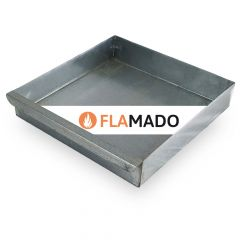 Aschekasten aus Stahlblech verzinkt 280 x 276 x 53 mm | Oranier K2 ** | Flamado | Schamotte-Shop.de