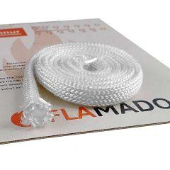 Flamado Hohlkordel-Dichtung Glasgewebe Ofen-Dichtschur 8mm x 3m, schamotte-shop.de
