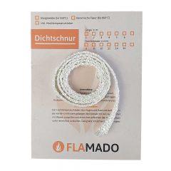 Ofendichtschnur flach Glasgewebe 10x2mm 1m| Dichtschnur | Flamado | Schamotte-Shop.de