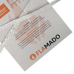 Ofendichtschnur flach Glasgewebe 10x2mm x 1m| Dichtschnur | Flamado | Schamotte-Shop.de