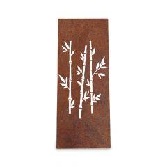Edelrost Sichtschutz Bambus 150 cm x 60 cm » Schamotte-Shop.de