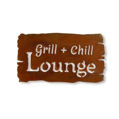 Edelrost Schild BBQ Lounge » Schamotte-Shop.de