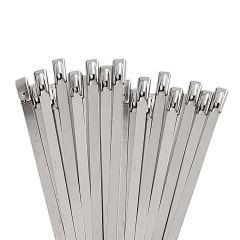 Kabelbinder Edelstahl für Hitzeschutzband I 20 Stück I 300 x 4,6 x 0,25 mm | schamotte-shop.de