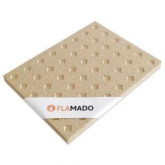 Vermiculite Platte Diamantmuster 4 Stk. | Brandschutzplatte | Flamado | Schamotte-Shop.de