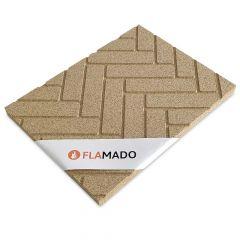 Vermiculite Platte Fischgraetenmuster 4 Stk. | Brandschutzplatte | Flamado | Schamotte-Shop.de