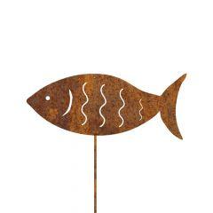 Edelrost Fisch mit Stecker
