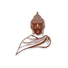 Edelrost Wandbild Buddha » Schamotte-Shop.de