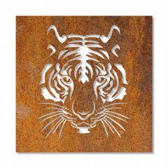 Edelrost Tiger Wandbild