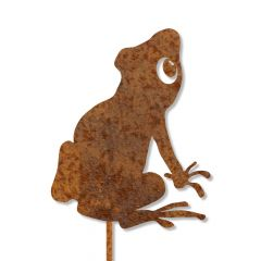 Edelrost Frosch Nio mit Stecker