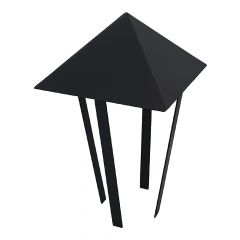 Abdeckung Rohr für Pizzaofen für Ø 120 mm schwarz Schamotte-Shop.de