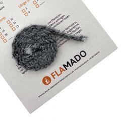 Dichtschnur flach 10x5mm / 2m selbstklebend (Glasgewebe)