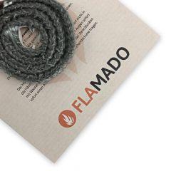 Dichtschnur flach 9x4mm / 1,5m selbstklebend | passend für Aduro Hybrid** | Gesamtansicht eingedreht | Flamado | Schamotte-Shop.de