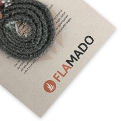 Dichtschnur flach 9x4mm / 2m selbstklebend   Gesamtansicht eingedreht   Flamado   Schamotte-Shop.de
