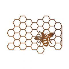 Edelrost Bienenwabe Aufhänger » Schamotte-Shop.de