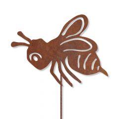 Edelrost kleine Biene mit Stecker » Schamotte-Shop.de