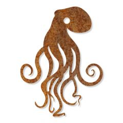 Edelrost Octopus Wandbild