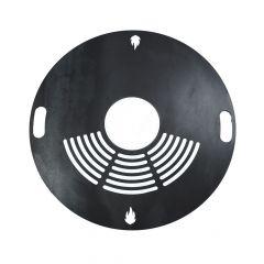 Feuerplatte Grillplatte mit Rost Ø 60 cm aus Stahl