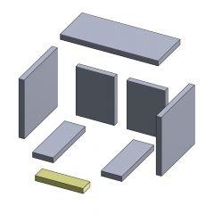 Bodenstein vorne 225x62x25mm (Vermiculite) passend für ABC**