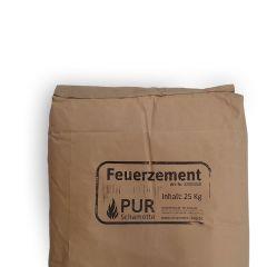 Feuerzement hydraulisch 25kg | PUR SCHAMOTTE | schamotte-shop.de