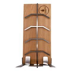Flammlachshalter 30 x 14 cm aus kanadischem Zedernholz  » Schamotte-Shop.de