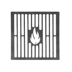 Grillrost 20 cm auf Maß aus Stahl Brataufsatz für BBQ Gasgrill Kohlegrill Kugelgrill