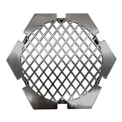 Grillrost BBQ Design 6-eckig Ø 21 cm Einsatz für Feuerplatte » Schamotte-Shop.de