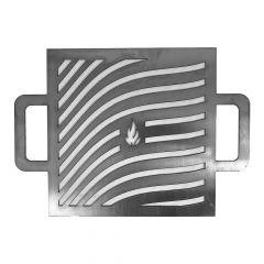 Grillrost aus Edelstahl / Ersatzrost für Tischgrill Kurume