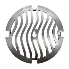 Grillrost Ø 21 cm Einsatz für Feuerplatte Wave Design ǀ Grillzubehör ǀ Schamotte-Shop.de