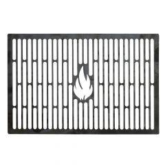 Grillrost 45 x 26 cm aus Stahl Brataufsatz für BBQ Gasgrill Kohlegrill Kugelgrill