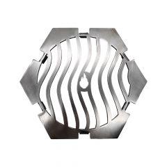Grillrost Wave Design 6-eckig Ø 21 cm Einsatz für Feuerplatte » Schamotte-Shop.de