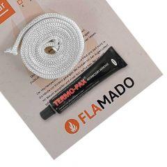 Hohlkordeldichtung für Glasscheibe 8mm / 1,5m inkl. Kleber für Techfire** Tambora | Dichtschnur | Ersatzteil Kaminofen | Top Preise | schneller Versand | Flamado