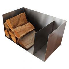 Holzlager / Feuerholzregal Flat Box » aus Edelstahl
