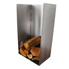 Holzlager / Feuerholzregal High Box » aus Edelstahl