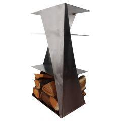 Holzlager / Feuerholzregal Locker » aus Edelstahl