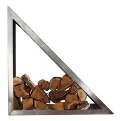 Holzlager / Feuerholzregal Triangel » aus Edelstahl