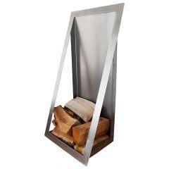 Holzlager / Feuerholzregal Window » aus Edelstahl
