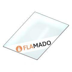 Glaskeramik Kaminscheibe 255x180x4mm » passend für Globe Fire** | Sichtscheibe | Kamin Ersatzteil