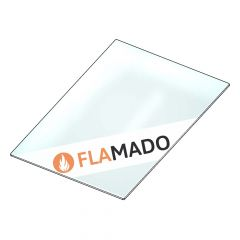 Glaskeramik Kaminscheibe 608x440x4mm » passend für Leda** | Sichtscheibe | Kamin Ersatzteil
