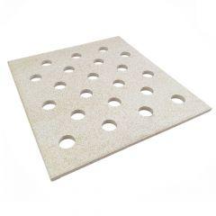 Lochplatte aus Cordierit 420x380x12mm Brennhilsmittel | Schamotte-Shop.de