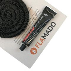 Glasgewebe Ofendichtschnur 12mm, 3,5m inkl. Hochtemperaturkleber Novaline | Dichtschnur | Flamado | Schamotte-Shop.de